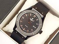 Мужские (Женские) кварцевые наручные часы Hublot на каучуковом ремешке (AAA copy), фото 1