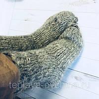 Носки из овечьей шерсти ручной вязки