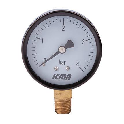"""Манометр нижнього підключення 1/4"""" 4 бар ICMA 244 (Італія), фото 2"""