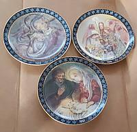 Настенная декоративная тарелка Рождество 1988 1989 1991гг.Германия
