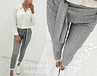Модные и стильные брюки женские серые в клетку с 42-го по 54-ый размер