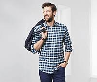 Рубашка легкая фланель  мужская  Tchibo размер М ворот 39-40, фото 1