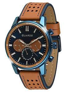 Часы мужские Guardo 007576-4 сине-коричневые