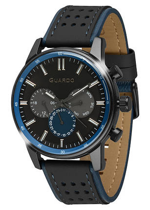 Часы мужские Guardo 007576-3 черные, фото 2