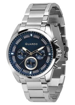 Часы мужские Guardo 011123-1 серебряные, фото 2
