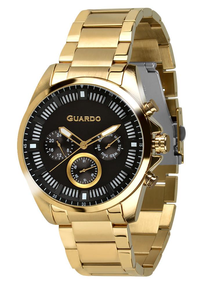 Часы мужские Guardo 011123-2 золотые