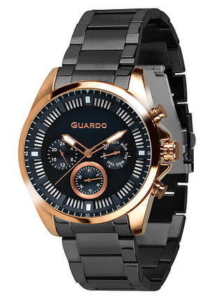 Часы мужские Guardo 011123-3 черные, фото 2