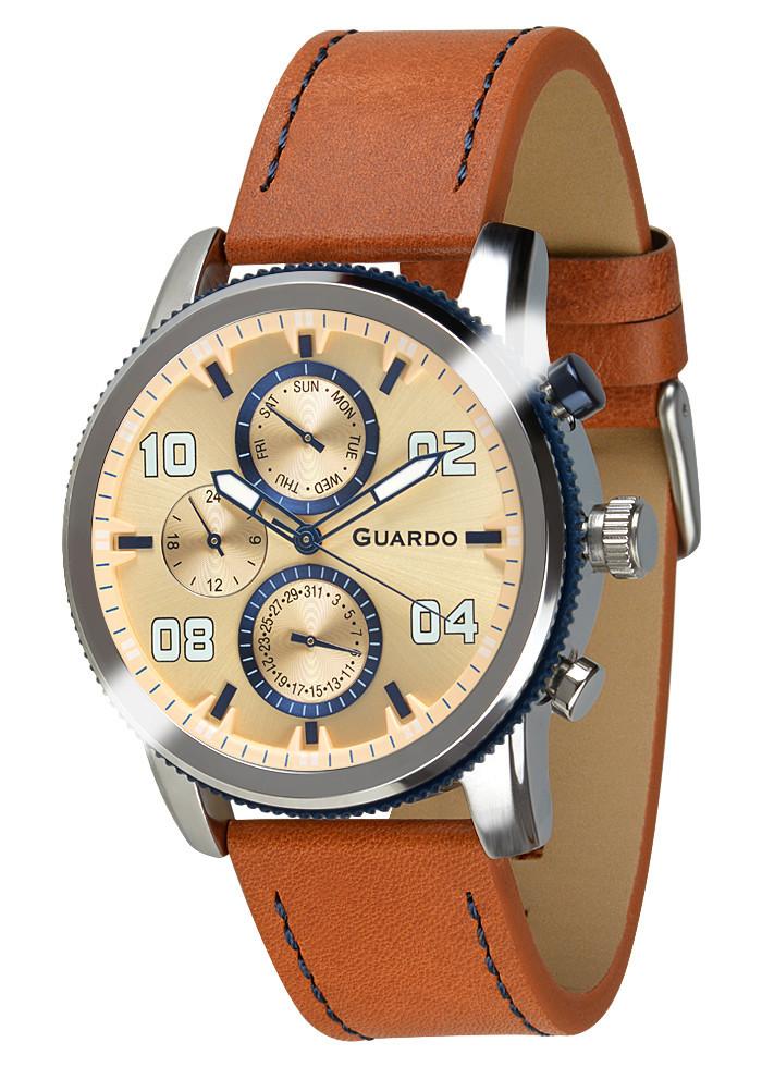 Часы мужские Guardo 011097-2 коричневые