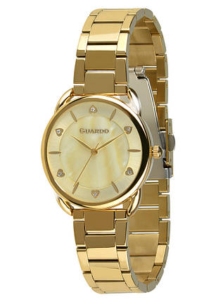 Часы женские Guardo 011148-3 золотые, фото 2