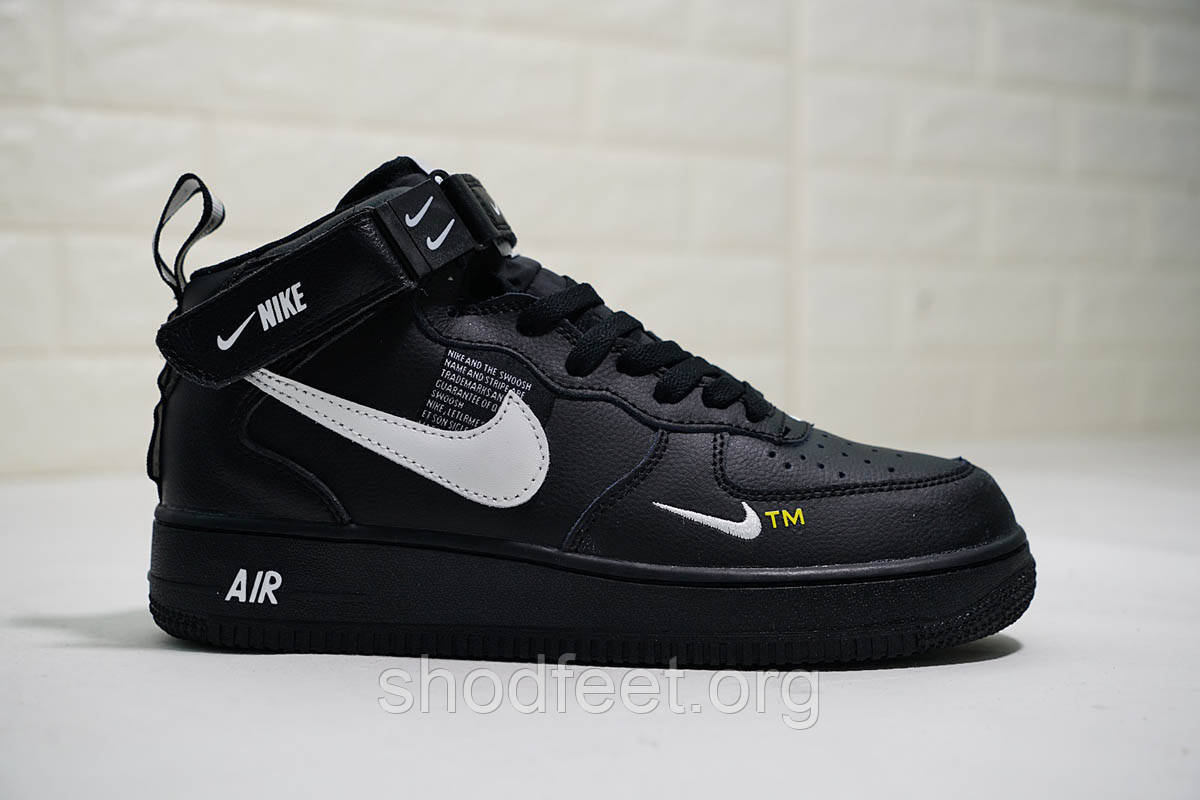 "Кроссовки Nike Air Force 1 Mid 07 LV8 Utility ""Black"""