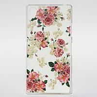 Чехол силиконовый для Sony Xperia Z1 L39H Цветочки