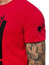 Футболка мужская - надпись FBI красный, фото 3