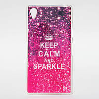 Чехол силиконовый для Sony Xperia Z1 L39H Keep Calm and Sparkle