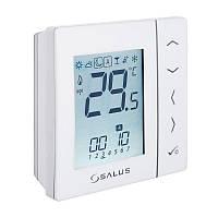 Беспроводной комнатный термостат с цифровой индикацией 4 в 1, с питанием от батареек (белый) Salus VS20WRF