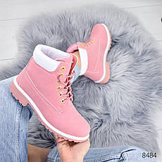 """Ботинки женские демисезонные """"Tim Tim"""" розового цвета из эко нубука. Ботильоны женские. Ботильоны деми, фото 3"""