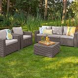 Набор садовой мебели California 3 Seater Set из искусственного ротанга, фото 2