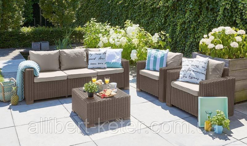 Набор садовой мебели California 3 Seater Set из искусственного ротанга