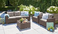 Набор садовой мебели California 3 Seater Set из искусственного ротанга, фото 1