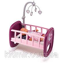 Ліжечко люлька з мобілем для пупса до 42 см Прованс Baby Nurse Smoby 220343