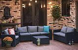 Набор садовой мебели California 3 Seater Set из искусственного ротанга, фото 3
