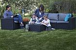 Набор садовой мебели California 3 Seater Set из искусственного ротанга, фото 4