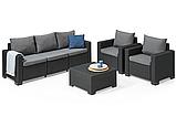 Набор садовой мебели California 3 Seater Set из искусственного ротанга, фото 9
