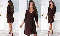 Сукня жіноча з запахом ТК/-1230 - Шоколад, фото 1