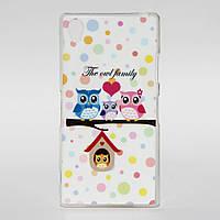 Чехол силиконовый для Sony Xperia Z1 L39H The Owl Family