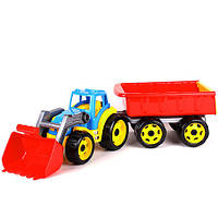 Трактор с ковшом и прицепом Техн.3688