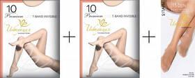 Колготки Інтуїція T-Band Invisible 10 den (2 пари)+ Гольфи Invisible 15 (2 пари)