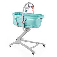 Кроватка-стульчик Chicco Baby Hug 4 в 1 цвет бирюза Aquarelle