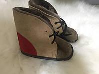 Натуральные кожаные детские пинетки-ботинки