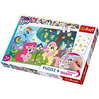 Пазли 75116 Trefl Поні та птахи, Hasbro My Little Pony, 35 дет. + наклейки