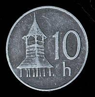 Монета Словакии 10 геллеров 1993 г.