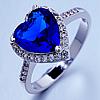 """Кольцо Swarovski """"Синее сердце"""""""