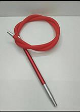Силиконовые шланг  Long для Кальяна  с покрытием Soft touch комби ( красный)