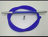 Силиконовые  шланги   для Кальяна  с покрытием Soft touch   мундштук коннектор Long разборные синий, фото 3