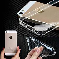 Силиконовый TPU прозрачный чехол для iphone 5/5S/5SE