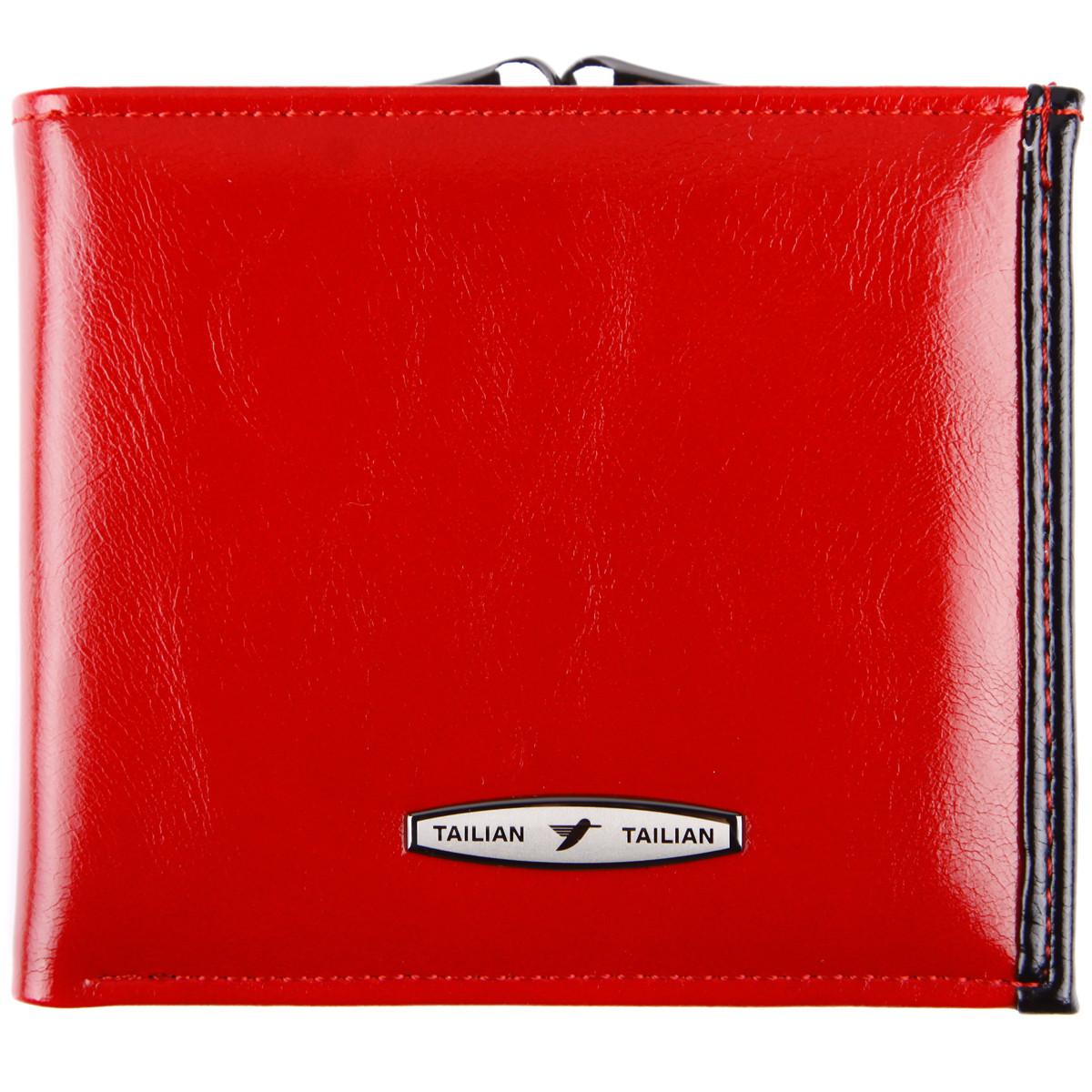 Портмоне женский TAILIAN застёжка кнопка красный 11х9,5х2,5  м Т777-0521крч