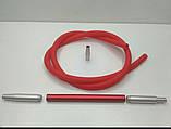 Шланг Эми  AMY Deluxe красный для кальян ( коннектор , шланг ,мундштук ), фото 2