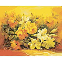 """Картина по номерам """"Букет в желтом цвете"""" КНО2037 scs"""