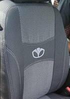 Чехлы на сиденья, авточехлы DAEWOO LANOS sedan 1997- задняя спинка 1/3 2/3; 4 подголовника.  Nika