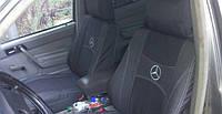 Чехлы на сиденья MERCEDES W123 1976-1984 задняя спинка цельная; подлокотник; 2 подголовника. 'NIKA'