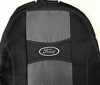 Чехлы на сиденья Авточехлы FORD FOCUS II sedan hatchback 2004- з с и сид 1/3 2/3 подл 5 подголовн Nika форд