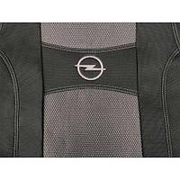 Чехлы на сиденья, авточехлы OPEL ZAFIRA B 7 мест 2004-2011 з с закр тыл 1/2 1/2; отделн. подлок; 7 подгол; airbag.  Nika
