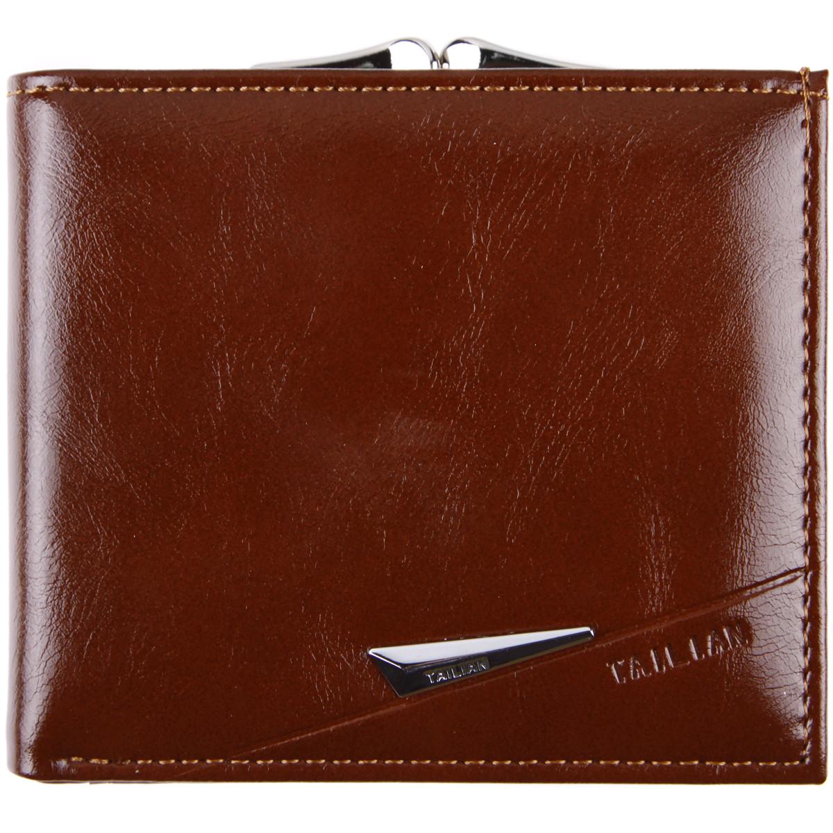 Портмоне женский коричневый TAILIAN застёжка кнопка 11х9,5х2,5  м Т777-052кор