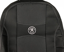 Чехлы на сиденья SKODA FABIA III 2014- з с и сидения раздельная; 2/3 1/3 4 подголовников; airbag. 'NIKA'