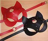 Женская портупея на лицо маска кошки красная для ролевых игр маскарадов и праздников, фото 2