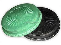 """Люк """"Garden"""" полимерпесчаный зеленый/черный (1т) р.590/720"""