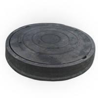 """Люк """"Garden"""" полимерпесчаный чёрный ( 4,5т ) р.540/750"""
